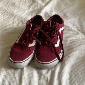 Maroon old skool vans size 7 women's